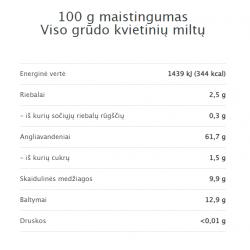 EKO kvietinių miltų maistinė vertė